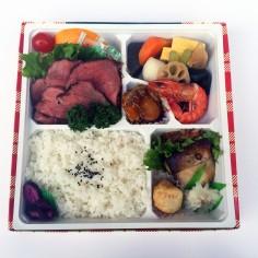 ローストビーフと<br>魚の西京焼弁当