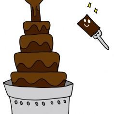 チョコレートファウンテン始めます!