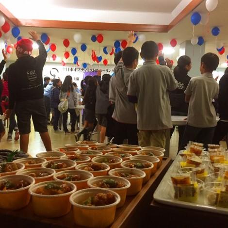350名のケータリングパーティー